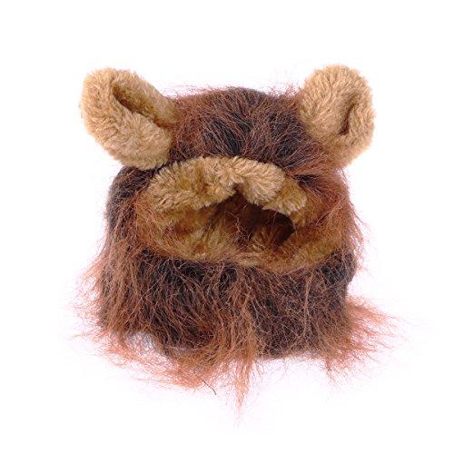 UEETEK Löwenmähne für Katzen, süße Löwen Kostüm Cosplay -