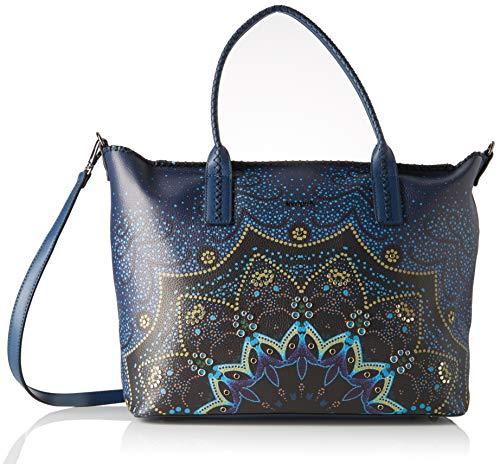 Desigual Damen Bag Tekila Sunrise_holbox Schultertasche, Blau (Petrucho), 30.5x17x37 cm