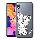 ZhuoFan Coque Samsung Galaxy A10, Etui en Silicone 3D Transparente avec Motif Dessin Antichoc TPU Housse de Protection Case Cover...