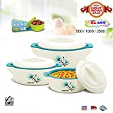 #3: BMS GoodDay Plaza Insulated Hot Pot Casserole Gift Set, 3 Pcs ,With FREE 650ML Bowl