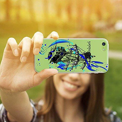 iPhone 5C Hülle, WoowCase® [ Hybrid ] Handyhülle PC + Silikon für [ iPhone 5C ] Indische Pferde Sammlung Tier Designs Handytasche Handy Cover Case Schutzhülle - Transparent Hybrid Hülle iPhone 5C H0016