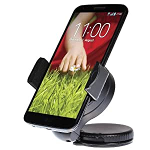 "wortek Universal KFZ Halterung bis ca. 5,7"" Displays mit Kugelgelenk & Saugnapf (z.B. für Apple iPhone 7 / 6S/ 6 / 5 / 5S etc.)"
