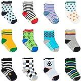 Ateid Baby Socken Anti-Rutsch Stoppersocken 12er-Pack