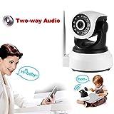 Gugutogo 720P Wireless IP Kamera Pet Baby Monitor Zwei-Wege-Audio-Nachtsicht IP-Kamera (Farbe: schwarz-weiß)