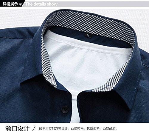 Sunshey Herren Businesshemd Langarmhemd Slim Fit mit Langarm in weiß, schwarz,weinrot, blau, rosa Weinrot