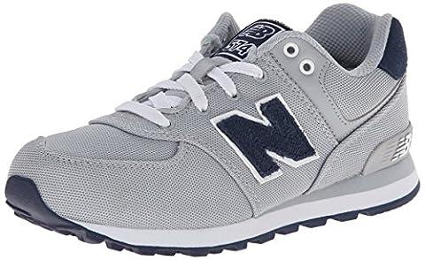 New Balance NBKL574PFP, Jungen Kids Lifestyle 574 , Grau - Silver Textile - Größe: 32