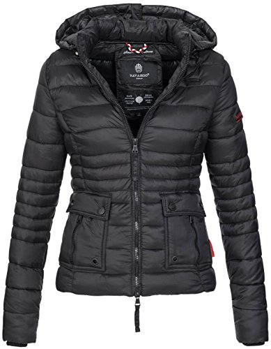 Navahoo Damen Jacke Steppjacke Übergangsjacke Gesteppt Kapuze 11 Farben B602
