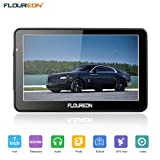 "FLOUREON SAT NAV GPS Navigation Car Navigator Capacitive 7"" LCD Touch Screen Lifetime Built-in 8GB 256MB Storage Free European Map Updates"