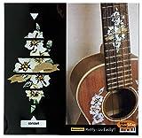Décoration Hibiscus pour palissandre pour ukulélé de concert avec incrustation Autocollant Stickers