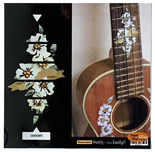 Hibiskus Dekoration für Griffbrett für Konzert-Ukulele Inlay Aufkleber Aufkleber