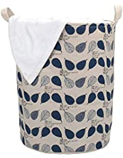 HOKIPO® Folding Laundry Basket for Clothes, Round Collapsible Storage Basket, 42-LTR (AR1740)