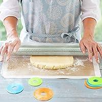 LanLan Rodillo de Cocina de Acero Inoxidable Ajustable de 17 Pulgadas, Rodillo de Masa para Hornear Galletas Pasteles de Pizza