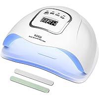 MOULEI Lampe UV Sèche Ongles, 150W UV LED Séchoir à Ongles Professionnel Automatique, Séchage Rapide 4 Minuterie de 10s…