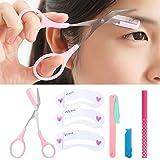 1 Set 4 in 1 Augenbraue Schere + Augenbraue-Messer + Augenbraue-Schablonen Korrektur Tool + Augenbrauenstift