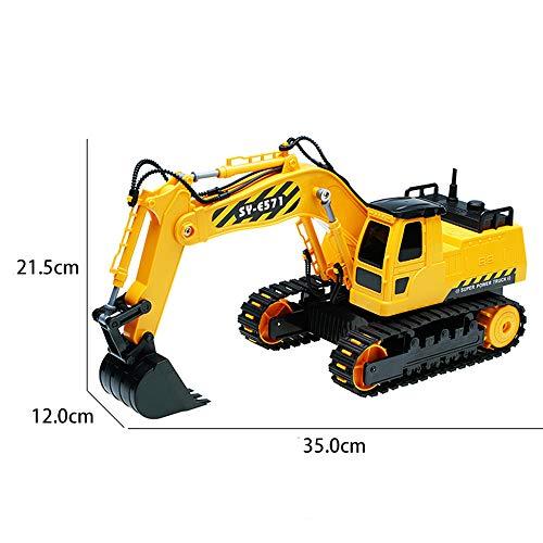 RC Auto kaufen Baufahrzeug Bild 4: HKFV RC Bulldozer, Model Free Wheeler Die Cast BAU Spielzeug RC Car 1:24 Scale Fernbagger-BAU-LKW-Spielzeug*