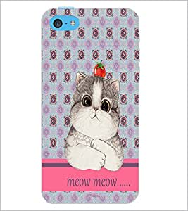 PrintDhaba Kitty D-3796 Back Case Cover for APPLE IPHONE 5C (Multi-Coloured)
