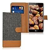 kwmobile Wallet Case Canvas Hülle für LG Stylus 2 - Flip