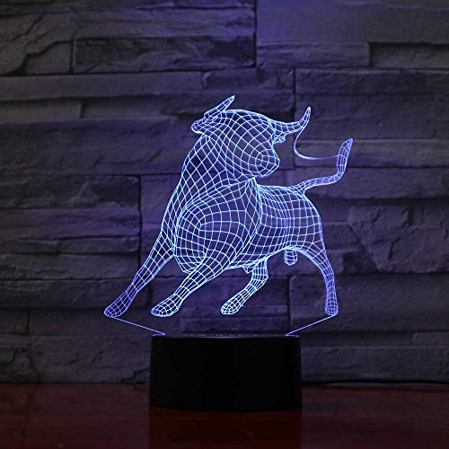 Yangll 7 Color Changing Atmosphere Touch Desk Lamp USB Creative LED Nightlight 3D America Captain Modelling Lighting Fixture Home Decor