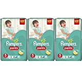 Pampers Pants Monatspackung Größe 5 Junior 12-18 kg, ( 3x48 Windeln-Pants)