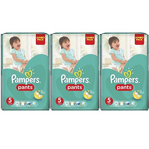 Preisvergleich Produktbild Pampers Pants Monatspackung Größe 5 Junior 12-18 kg, ( 3x48 Windeln-Pants)