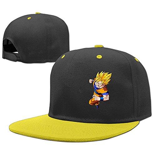 hittings-cool-goku-dragonball-z-child-hiphop-baseball-cap-boys-girls-hat-snapback-one-size-yellow