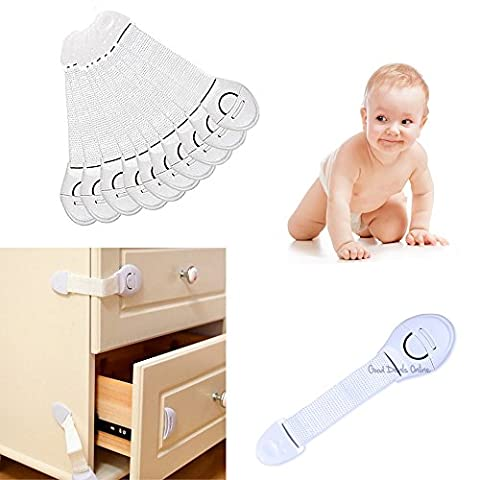 Child Toddler Baby Safety Lock for Cupboard Drawer Fridge Cabinet Door Appliance - Keep your child safety with these handy locks, safety first! (6 Safety Locks)