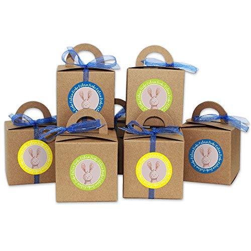 Scatole DIY con coniglietto pasquale - Scatole da regalo di Pasqua in carta Kraft - scatole regalo da riempire a piacere - per grandi e piccoli