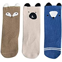 Happy Cherry Baby Kinder M/ädchen Socken Set - random color Lange Socken Kniestr/ümpfe Baumwolle s/ü/ße Kindersocken Set f/ür M/ädchen 1 bis 6 Jahre alt