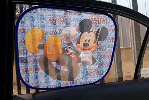 Parasol lateral para coche X2 Mickey Mouse Clubhouse con adhesivo, de XtremeAuto®