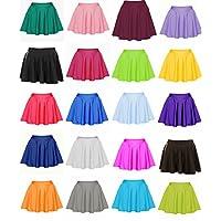 RSVH Kids Girls Nylon Lycra Plain Flared Circular Skirt Size 2-14
