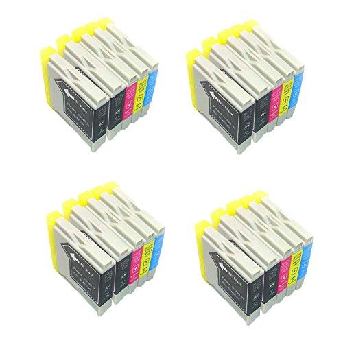 Preisvergleich Produktbild Generisches Kompatible Tintenpatrone als Ersatz für BROTHER LC1000BK LC1000C LC1000M LC1000Y ( 8x Schwarz, 4x Cyan, 4x Magenta, 4x Gelb, 20er-Pack)