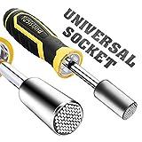 Steckschlüssel NASUM Universalschlüssel Universal Steckschlüssel Universal Socket Set ,MultiFunktionsHandwerkzeugeReparaturWerkzeuge ,mit Schlüsselweite mit Griff und 4 Lichtern