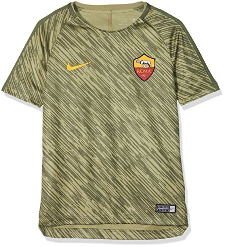 8cab7421ec1c6 Nike Dri-Fit A.S. Roma Squad Alto de fútbol para niño, Niño, Color Neutral  Olive/Medium Olive/University Gold, tamaño FR : M (Taille Fabricant : ...