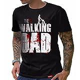HARIZ  The Walking Dad T-Shirt // Schwarz S-XXL (Herren) I Geschenk I Vatertag I #Papa Collection Schwarz XL