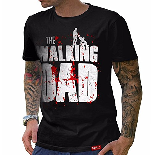 HARIZ  The Walking Dad T-Shirt//Schwarz S-XXL (Herren) I Geschenk I Vatertag I #Papa Collection Schwarz XXL