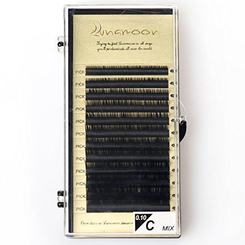Künstliche Wimpern Natürlich Individuen Falsche Wimpern Einzeln Wimpernverlängerung Makeup Handgefertigte C-Curl 7-14mm 0.10mm