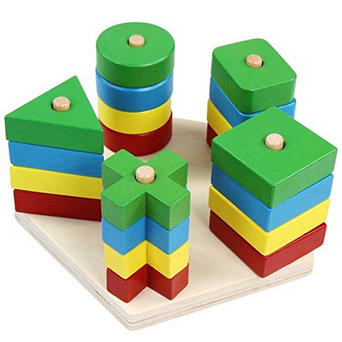 Infantastic Forme incastro giocattolo gioco ad incastro di legno (21 forme)