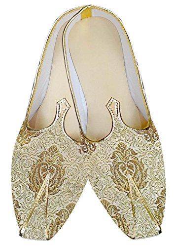 INMONARCH Herren goldenen Bräutigam Hochzeit Schuhe MJ012979S9H 42.5 Golden -