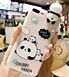 Coque iPhone 6 Plus,Squishy 3D Coque pour iPhone 6s Plus,Ekakashop Cute Panda Endormi Design Coque en Soft Stress Silicone TPU Anti-choc Housse Couverture Protecteur Back Cover Rigide étui Defender Bumper pour Apple iPhone 6 Plus / 6s Plus 5,5 Pouces + 1 X cartes gratuites se tiennent (couleur aléatoire)