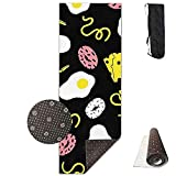 FGRYGF Non Slip Fitness Exercise Mat, Workout Mat for Yoga, Pilates and Floor Exercises, Estera de Yoga Non Slip Cute Pattern Design Printed Premium for Fitness Exercise Pilates with Carrying Strap