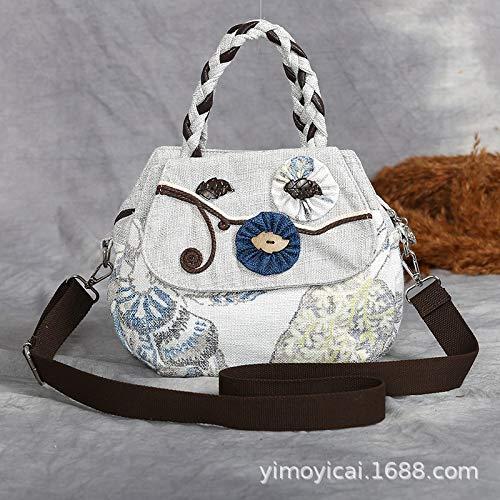 LFGCL Taschen womenHand-Woven Kokosnussschalen-Dekoration mehrschichtige Nationale Windlicht-Handtaschen-Einkaufstasche