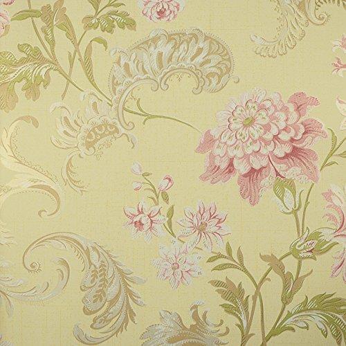 Zhzhco Rustikale Normalpapier Wallpaper Schlafzimmer Wohnzimmer Im Amerikanischen Stil An Der Wand Land-Papiere (0,53 M * 10 M)