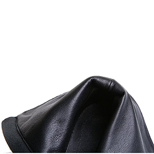 HUSK'SWARE Scarpe Uomo Invernali Stivaletti Donna with Zip Scarpe da Moda Stivaletti - Scarponcini Chelsea Boots Alla Caviglia Donna Fibbia Low Tacco Nero