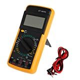 Multimeter Multimeter Tester Polymetric Voltmeter Ammeter Ammeter Digital with Battery Cables Rubber Case and LCD Display 876