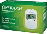 #3: OneTouch Select Simple Glucometer ( Box of 10 Test Strips Free)