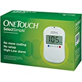 OneTouch Select Simple Glucometer with Box of 10 Test Strips Free