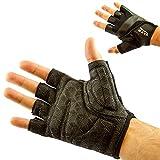 Mava Sports Gants d'entraînement pour haltérophilie, gym, exercices de musculation, Fitness Grip en silicone et protection callosités , noir, XS