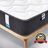 Inofia Double Mattress 4FT6 Mattress 3D Breathable Fabric Mattress with Pocket Springs/7-Zone Support System/8.7 Inch Depth (100 Night Test at NO Risk)