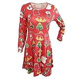 Dorical Damen Weihnachten Outfit Lang Etuikleid Kleider Schicke Elegant O-Kleider Schicke weihnachtskleider Silvester Festliche Kleider Günstig Kaufen Kleider Online