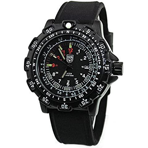 aidis my049Reloj Militar Táctica impermeable reloj de pulsera de cuarzo correa de caucho